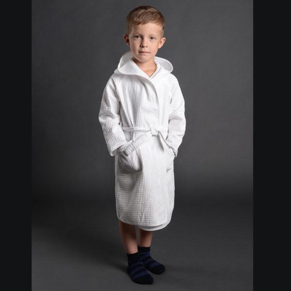 Вафельный детский халат 700-1